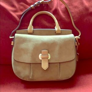Michael Kors Romy Suede and Leather Messenger Bag